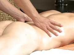Hunk is pounding stud's anal during scatological massage